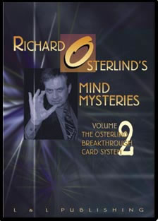 Mind Mysteries Vol. 2 Breakthru Card Sys. by Richard Osterlind v