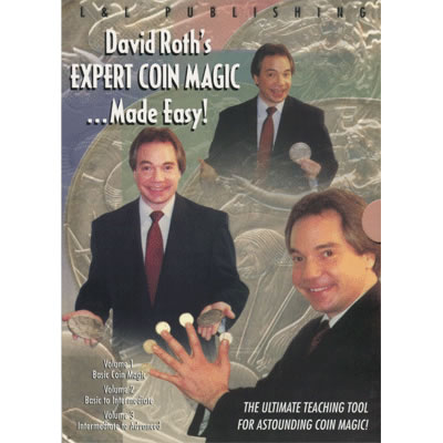 David Roth Expert Coin Magic Made Easy (3 Vol. set) video